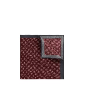 Hugo Boss Pindot Wool Pocket Square One Size Red