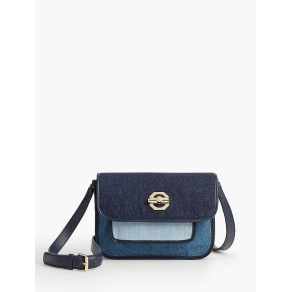 Talbots Women's Pieced Pebbled Denim Crossbody