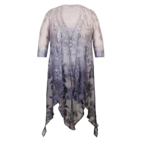 Chesca Ombre Devoree Pixie Coat, Purple