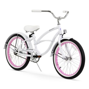 Firmstrong Urban 20 Kids' Bike - White With Pink Rims