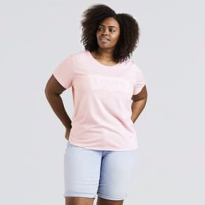 Levis-The Perfect Graphic Tee (Plus)-Housemark Light Lilac