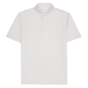 Reiss Daniel - Short Sleeved Pique Polo in Stone, Mens