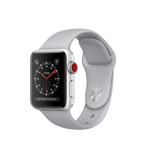 Apple Watch Series 3 GPS + Cellular 38mm Aluminium Case Silver with Fog Sport Band