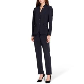 Tahari Asl Petite Star Collar Pant Suit