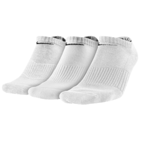 Nike 3 Pack Moisture Mgt Cushion No Show Socks - Mens - White/Grey