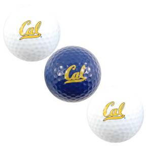 California Golden Bears Team Golf 3-Pack Golf Ball Set