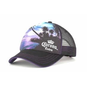 Corona Corona Corona Purple Sunset Trucker Cap