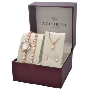 Accurist Ladies' Rose Watch Bracelet Earring and Pendant Set