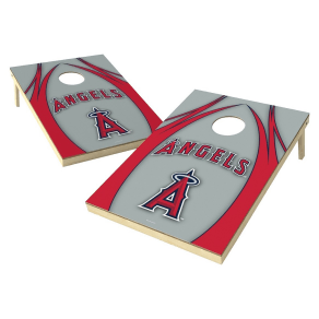 Los Angeles Angels Wild Sports V Logo Shield Cornhole Bag Toss Set - 2x3 Ft.