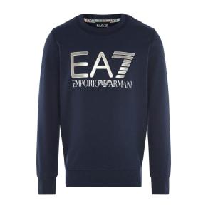 Armani Jeans Chest Big Logo Sweater, Blue