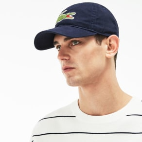 Lacoste Men's Big Croc Cap - Navy Blue