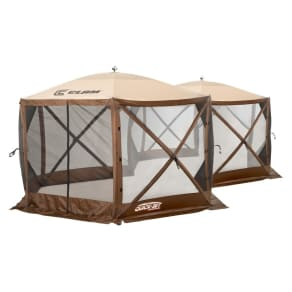 Clam Outdoors Quickset Excursion Extra Large Screen Shelter - Brown
