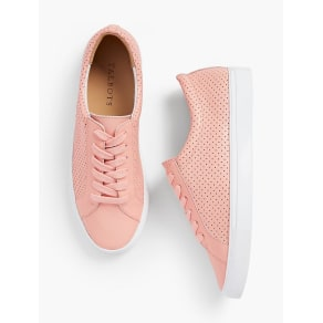 Talbots: Perforated Leather Sneakers