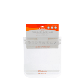 Ziptuck Reusable Snack Bags - Clear - 2 Item(s) - Full Circle(r) - Containers