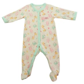 Baby Girl (Nb-9m) Vitamins Hippo/Giraffe Sleeper