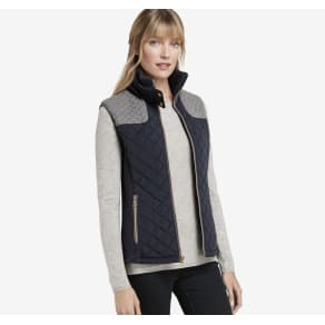 Johnston & Murphy Mixed-Media Quilted Vest