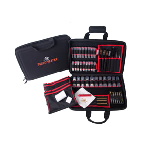 Winchester 68 Pc Super Deluxe Cleaning Kit Soft Sided Case, Black
