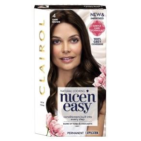Nice'n Easy Permanent Hair Dye 4 Dark Brown