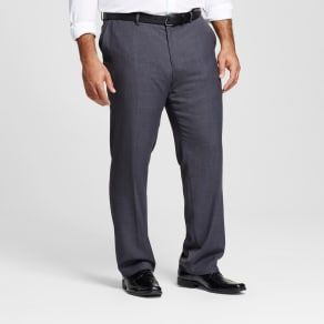 Men's Big & Tall Classic Fit Suit Pants - Merona Gray 31x36