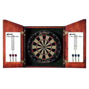 Accudart Union Jack Dartboard and Cabinet