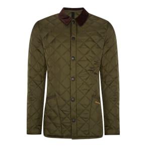 Men's Barbour Heritage Liddesdale Quilted Jacket, Green