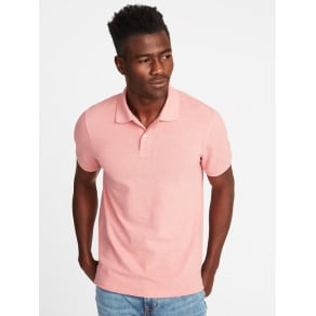 Old Navy Mens Built-In Flex Moisture-Wicking Pro Polo For Men Blush It Off -
