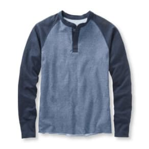 Two-Layer River Driver's Shirt, Baseball Henley Colorblock Tall