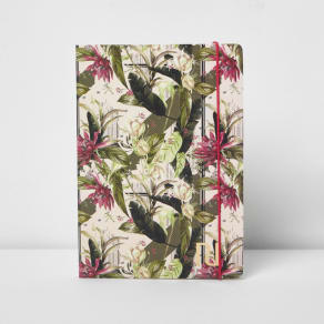 River Island Womens Pink A5 Palm Leaf Floral Print Notebook