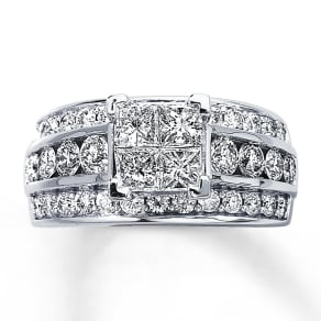 Previously Owned Ring 2-5/8 Ct Tw Diamonds 14k White Gold