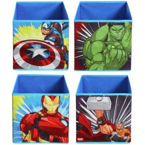 Avengers Set of 4 Fabric Storage Cubes