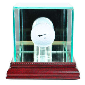Perfect Cases Golf Ball Display Case With Cherry Finish