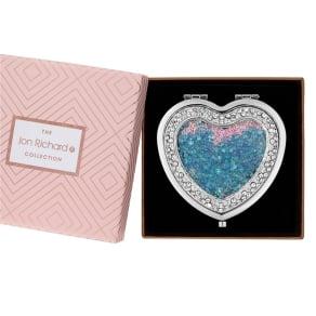 Jon Richard Crystal Shaker Heart Compact in a Gift Box