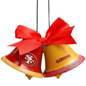 San Francisco 49ers Metal Bells Ornament