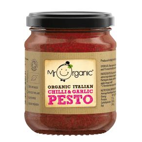 Mr Organic Italian Chilli & Garlic Pesto 130g