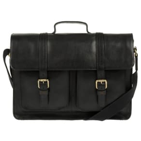 Made by Stitch - Black 'Garsdale' Handcrafted Leather Satchel
