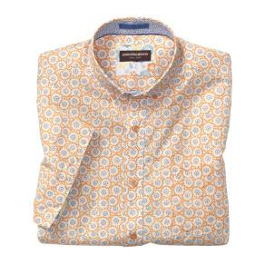 Johnston & Murphy Flower Burst Print Short-Sleeve Shirt