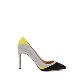 Hugo Boss Pointy Lace Mix Colorblock Suede Pump