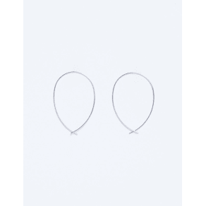 Lane Bryant Women's Infinity Hoop Earrings Onesz Silver Tone