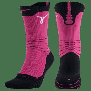 Nike Kay Yow Elite Versatility Crew - Vivid Pink/White