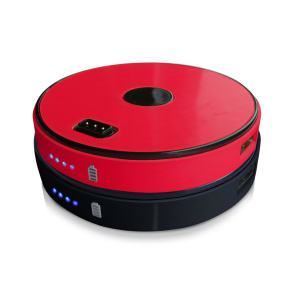 Sungale Spb0200-Rb 2 Disk Round Stackable 6000 Mah Power Bank-Red/Black, Multi Color