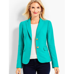 Talbots Women's Wool Bi Stretch Blazer
