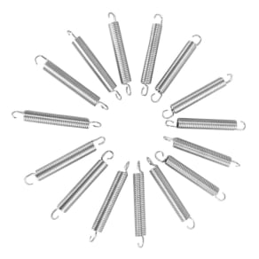 Upperbounce 5.5 Trampoline Springs Heavy-Duty Galvanized - Set of 15 (Spring Size Measures From Hook to Hook), Silver