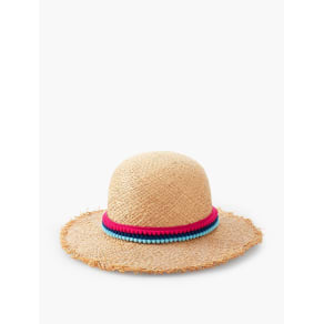 Talbots Women's Mini Pom Pom Frayed Sunhat