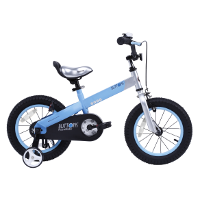 Royalbaby Matte Buttons Kidsaeur(tm) Bicycle With Training Wheels 12 Inch, 14 Inch, 16 Inch, in 4 Colors, Blue