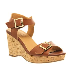 Office Winchester Cork Wedge Tan Leather