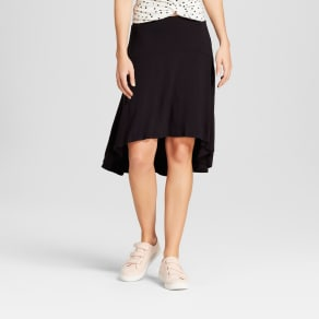 Women's Drop Waist Skirt - A New Day Black Xxs
