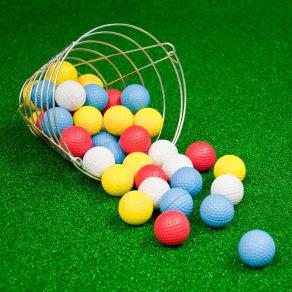 Jef World of Golf Foam Practice Golf Balls With Basket - 42pk, Multi-Colored