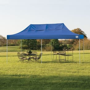 Shelterlogic Pop-Up 10' X 20' Truss Pro Canopy Tent With Blue Cover