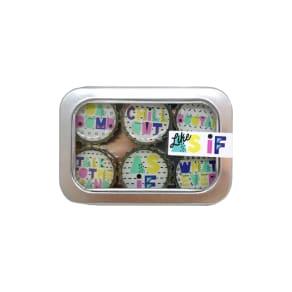 Kate Grenier 90S 6-Pack Magnets - White