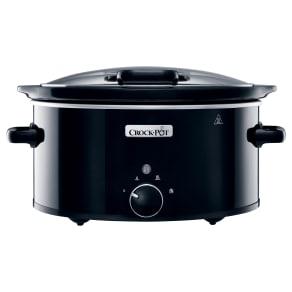 Crock Pot 5.7L Slow Cooker, Black, Black